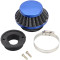 42mm Air filter Cleaner Kit For 47cc 49cc Mini Moto 2-Stroke Engine Motorcycle ATV Quad Scooter Go Kart Moped Pit Dirt Pocket Bike - Blue