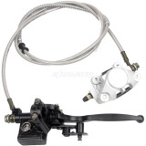 Rear Hand Hydraulic Disc Brake Master Cylinder Caliper Assembly  Fit for 125cc 150cc 250cc Quad Dirt Bike ATV Dune Buggy
