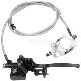 Rear Hand Hydraulic Disc Brake Master Cylinder Caliper Assembly  Fit for 125cc 150cc 250cc Quad Dirt Bike ATV Dune Buggy