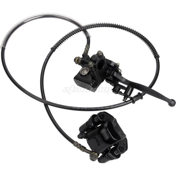 Rear Brake Master Cylinder With Caliper For ATV Quad 50CC 70CC 90CC 110CC 125CC 4 Wheel Motorcycle Parts