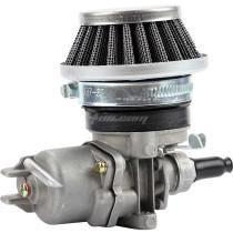 Air Filter + Carburetor Carb + Stack For 2 Stroke 47cc 49cc Engine Parts Mini Moto Kids ATV Quad 4 Wheeler Go Kart - Silver