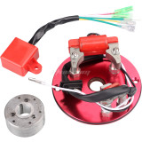 Racing Magneto Stator Ignition CDI Box For 110cc 125cc 140cc Engine Chinese Lifan YX Pit Dirt Bike Motor Motorcycle - RED
