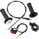 22mm Twist Throttle Accelerator Handle Set with Kill Switch For 50cc 110cc150cc 250cc Mini Bike Atv Quad Pit Bike Dirt Bike