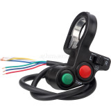 Motorcycle Horn Turn Signal Headlight Switch for 7/8'' Handlebar Pit Dirt Bike Scooter ATV Universal