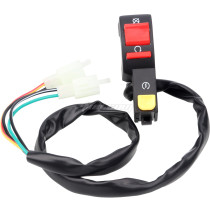 Universal On Off Kill Start Starter Switch With 2 plugs for 50cc 70cc 90cc 110cc 125cc 150cc 200cc 250cc Pit Dirt Bike ATV Quad 4 Wheel Go kart