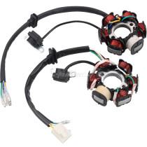 Magneto Stator 6 Coils 5 Wires For 50cc 70cc 90cc 110cc 125cc ATV Pit Dirt Bike Go Kart Quad Motorcycle