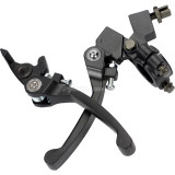 Black Folding 7/8in  22mm Clutch & Brake Lever For 50CC - 150CC CRF50 XR70 Pit Dirt Bike ATV Motorcycle