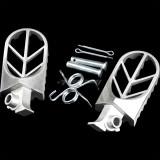 Stainless Steel Foot Pegs For Harley Honda Kawasaki Yamaha Suzuki KTM CRF XR Dirt Bike Motorcycle Parts