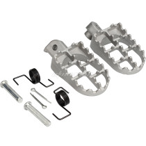 Silver Wide Foot Pegs Footrests For Yamaha PW50 PW80 TW200 Honda XR/CRF 50-125cc Pit Dirt Bike Motorcycle