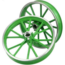 Aluminum Wheel Hub 2.50-10 Front Rear For Pocket Bike 47cc 49cc Pit Dirt Bike Scooter Motorcycle - Green