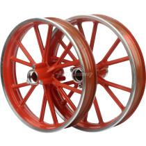Aluminum Wheel Hub 2.50-10 Front Rear For Pocket Bike 47cc 49cc Pit Dirt Bike Scooter Mini Moto Motorcycle Parts - Orange