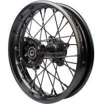 12mm 15mm hole hub 1.85 x 12 80/100/12 Rear Iron Wheel Rim For dirt pit bike CRF70 XR50 Motorcycle Parts - Black
