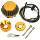 Gold Air Filter Inlet Pipe Fuel Line Tube For Mini Moto 43cc 49cc 40-5 Pocket Bike Scooter Motorcycle Parts