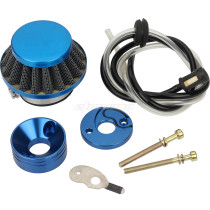 BLUE Air Filter CNC Inlet Pipe Fuel Line Tube For Mini Moto 43cc 40-5 Pocket Bike Scooter Motorcycle Parts