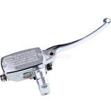 Right 1/8in 25MM Motorcycle Brake Clutch Master Cylinder For Electric scooter Honda CB400 1992-1998 Chrome