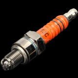 High Performance A7TC A7TJC 3 Electrode Spark Plug 50cc 70cc 90cc 110cc 125cc 150cc Chinese ATV Dirt Bike Go Kart GY6 Moped Quad
