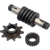 Push Bike 10T Gear & Clutch Shaft Drive Sprocket Fit For 49cc 66cc 80cc Motorized Bicycle Bike Parts