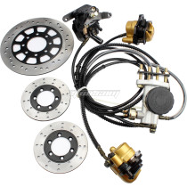 Hydraulic Disc Brake Calipers Pad System For GY6 125CC 150cc 250cc Go Kart  Quad Dirt Bike Dune Buggy Motorcycle