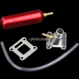 Power Boost Bottle & 32mm Intake Manifold For 49cc 50cc 80cc 2 Stroke Engine Motorized Bicycle Bike Mini Moto ATV Quad Pocket Pit Dirt Bike -RED