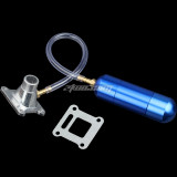 Intake Manifold WT Power Boost Bottle Fit For 30 to 80cc 2 Stroke Engine Motorized Bicycle Bike Mini Moto ATV Quad Pocket Pit Dirt Bike - Blue