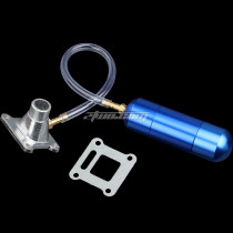 Intake Manifold WT Power Boost Bottle Fit For 30 to 80cc 2 Stroke Engine Motorized Bicycle Bike Mini Moto ATV Quad Pocket Pit Dirt Bike - Blue
