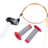 7/8in 22mm Twist Throttle Handle Grip With Cable Fit for 50-250CC ATV Dirt Bike Quad Pit Dirt Bike Buggy