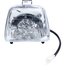 12V 35W Front Light LED Headlight For 50cc 70cc 90cc 110cc 125cc Mini ATV Quad Bike Buggy 4 Wheel Motorcycle