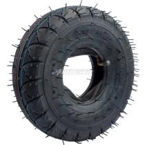4.10/3.50-4 Tires with Inner Tube For Garden Rototiller Snow Blower Mowers Hand Truck Wheelbarrow Go kart Kid ATV Generators Yard Trailers