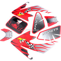 Decal Graphics Sticker Fairing Kit for CRF50 50-110CC PIT PRO Dirt Bike Thumpstar SSR TG010 Motorcycle - Red