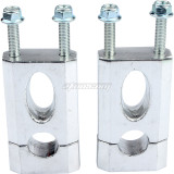 7/8in 22mm Handlebar Mount Clamp Risers for XR/CRF Apollo Dirt Pit Bike 50cc 70cc 90cc 110cc 125cc Motorcycle Parts