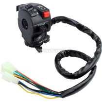 5-Function 12 wire Left Side Control Switch Assembly Kill Start Light Choke Switch for Chinese ATV Mini Quad 150cc 200cc 250cc 300cc