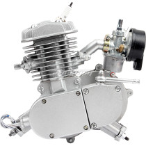 80cc (F80) 2-Stroke Body Engine Motor With Carburetor and spark plug For Cycle Motorized Bike Bicycle Scooter Kit - Silver