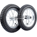 Aluminum 12 1/2 X 2.75 Tire Tube Rim Wheels With Tire & Inner Tube Front & Rear Accessory Replacement For 49CC Mini Moto Pit Dirt Bike Motorbikes