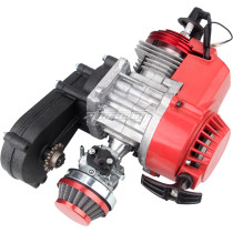 49cc Engine 2-Stroke Pull Start with Transmission 14T Manual Racing For Mini Pocket Mini Moto Motorbike Air Cooled ATV Dirt Bike Quad