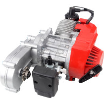 49cc Engine 2-Stroke Plastic Easy Pull Start with Transmission 14T For Mini Moto ATV Quad Dirt Pit Bike Motorcycle Red