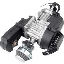 49cc Engine 2-Stroke Pull Start with Transmission Manual Racing For Mini Pocket Moto Motorbike Air Cooled ATV Dirt Bike Quad - Black
