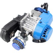 49cc Engine 2-Stroke Pull Start with Transmission Manual Racing For MiniMoto Pocket Motorbike Air Cooled ATV Dirt Bike Quad - Blue