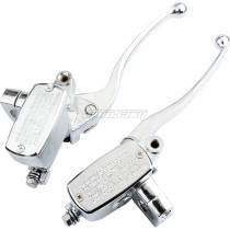 Chrome 1in 25mm Handlebar Hydraulic Brake Clutch Master Cylinder Left & Right Set For Magna VT250 Shadow VT750 1100 VT Motorcycle Universal