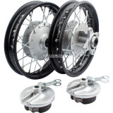 10 Inch Black Front & Rear Iron Wheels Rims for Honda CRF50 XR50  Pit Dirt Bike Motorcycle Parts