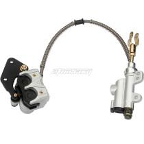 Hydraulic Rear Disc Brake Caliper System For 50cc 70cc 90cc 110cc 125cc For CRF50 XR50 ATV QUAD Bike Go Kart Buggy - Silver