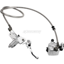 NEW Front Hydraulic Brake Master Cylinder For 50cc 70cc 110cc 125cc 140cc CRF50 XR50 Pit Dirt Bike Motorcycle Parts - Silver