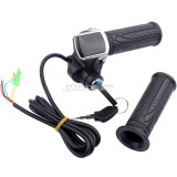 24V/36V/48V LCD Twist Throttle Battery Indicator Power ON OFF With key Lock For Scooter Electric Bike Motorcycle