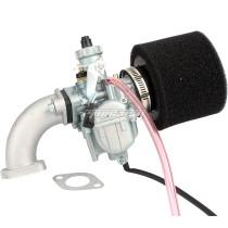 26mm VM22 Carburetor Carb + 38mm Air Filter Cleaner + Manifold Intake Pipe + Gasket Fit For 110cc 125cc 140cc Engine Pit Dirt Bike
