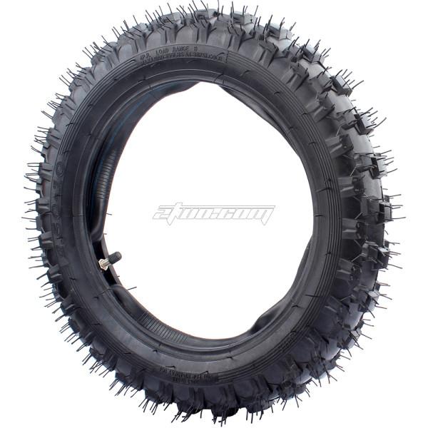 2.5-10 Front Rear Tire w/ Inner Tube TR4 Compatible with Mini Dirt Bike XR50 CRF50 PW50 SDG107 50SX Morini Razor SX500