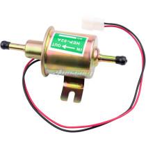 Universal 24V DC Low Pressure Heavy Duty Gas Diesel Inline Electric Fuel Pump HEP-02A (3-8 PSI) for Motorcycle Carburetor Lawn Mower