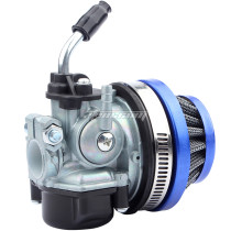 49cc 50cc 80cc 2 Stroke Carb Carburetor With Air Filter For 2 Stroke Engine Motorized Bicycle Mini Moto Dirt Pocket Bike ATV Quad 4 Wheel Motorcycle - Blue