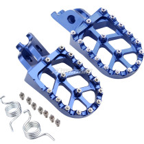 Foot Pegs Rest Pedal Footpegs CNC For CR 125 250 02-07 CRF150R 07-20 CRF250R 04-20 CRF250X 04-17 CRF250RX 19-20 CRF450R 02-20 CRF450RX CRF450X CRF450L CRF250L 250M CRF250 RALLY CRF1000L - BLUE