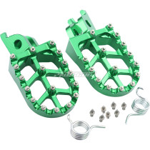Foot Pegs Rest Pedal Footpegs CNC For CR 125 250 02-07 CRF150R 07-20 CRF250R 04-20 CRF250X 04-17 CRF250RX 19-20 CRF450R 02-20 CRF450RX CRF450X CRF450L CRF250L 250M CRF250 RALLY CRF1000L - Green