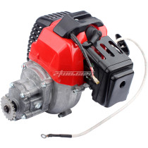 Complete 43cc 2 Stroke Electric Start Engine Motor With Transmission Gearbox for Mini Pocket Bike Gas G-Scooter ATV Quad Bicycle