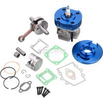 44mm Big Bore Cylinder 53cc 54cc Top End Kit for 2 Stroke 47cc 49cc Engine Mini Quad ATV Pocket Bike Motorcycle Parts